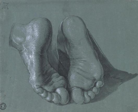 Albrecht Dürer Study for the Heller Altar Feet of an Apostle 1508 Museum Boijmans Van Beuningen Rotterdam