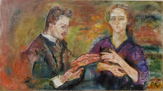 Oskar Kokoschka Portrait of Hans and Erica Tietze-Conrat 1909 MoMA