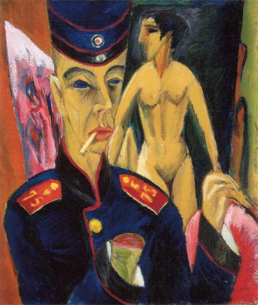 Ernst Ludwig Kirchner Self-portrait as a Soldier 1915 Allen Memorial Art Museum Oberlin College Ohio