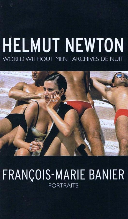 Helmut Newton Francois Marie Banier poster Berlin exhibition