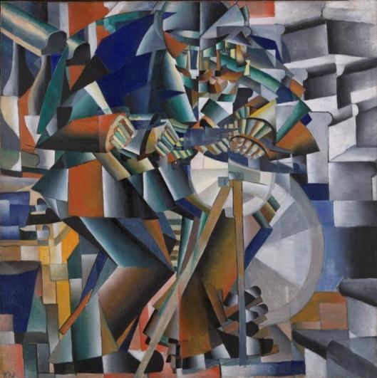 Kazimir Malevich Knife Grinder Principle of Glittering ca 1913 Yale University Art Gallery