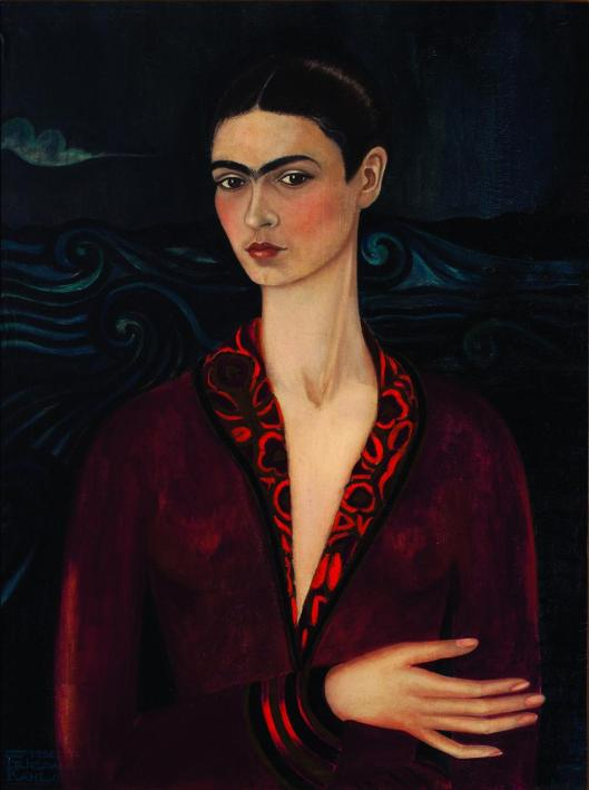 Frida Kahlo Self-portrait in a Velvet Dress 1926 priv