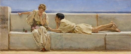 Lawrence Alma-Tadema A question 1877 Pérez Simón collection Mexico