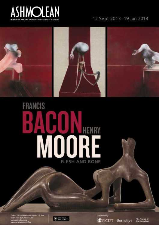 Francis Bacon  Henry Moore Flesh and Bone poster Ashmolean Museum