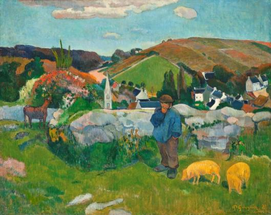 Paul Gauguin The Swineherd 1888 Los Angeles County Museum of Art