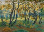 Paul Ranson La clairière or L'orée du bois (The Clearing or The Edge of the Woods) ca 1895 priv