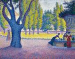 Paul Signac Saint-Tropez Fontaine des Lices 1895 priv
