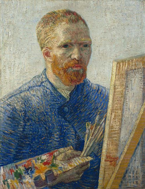 Vincent van Gogh Self-portrait as a painter 1887 88 Van Gogh Museum Amsterdam