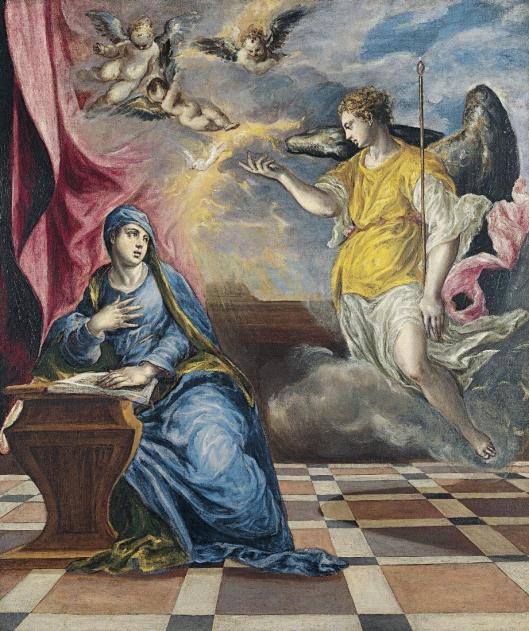 El Greco The Annunciation ca 1576 Museo Thyssen-Bornemisza Madrid