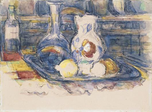 Paul Cézanne Bottle Carafe Jug and Lemons 1902 06 Museo Thyssen-Bornemisza Madrid