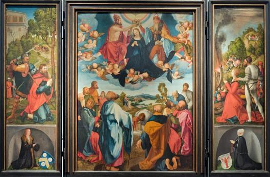 Albrecht Durer Heller Altarpiece 1507 09 Jobst Harrich Copy of Central Panel after Durer Frankfurt