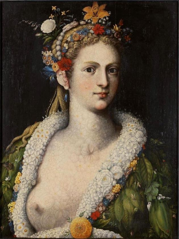 Arcimboldo Flora meretrix ca 1590 private collection