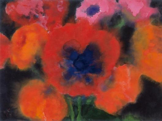 Emil Nolde Large Red Poppy undated watercolour Nolde Stiftung Seebull