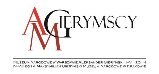 Maksymilian Aleksander Gierymscy logo wystawy MNW MNK
