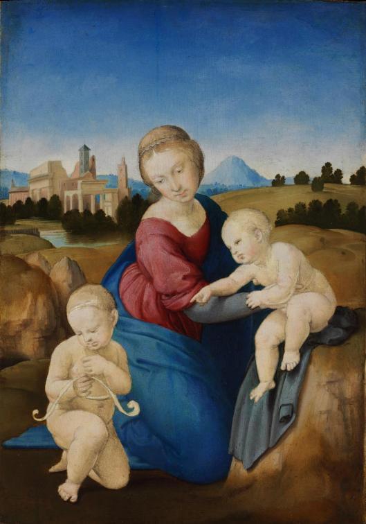 Raphael Santi Esterhazy Madonna 1508 Budapest Rafael