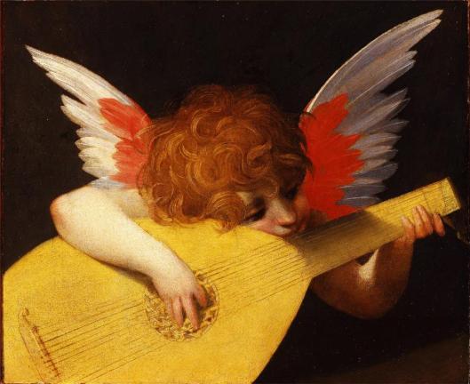 Rosso Fiorentino Musician Angel ca 1520 Uffizi Florence