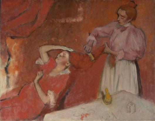 Edgar Degas Combing the Hair (La Coiffure) ca 1896 NGL London