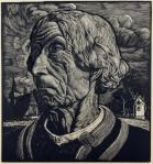 Wladyslaw Skoczylas Head of a Highlander 1914 woodcut