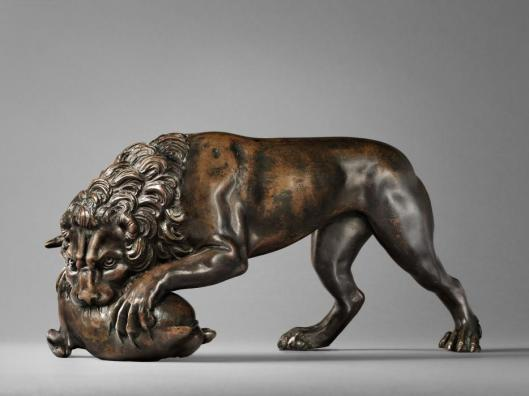 Barthélemy Prieur Lion Devouring a Doe cast probably before 1583