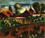 Karl Schmidt-Rottluff Village on the Sea 1913  Saint Louis Art Museum