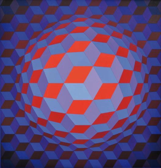 Victor Vasarely Chey-Rond-Va 1970