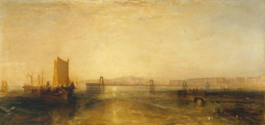 Brighton from the Sea circa 1829 by Joseph Mallord William Turner 1775-1851