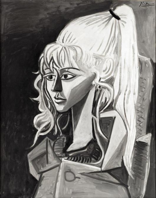 Pablo Picasso Sylvette Portrait of Mademoiselle D. 1954 Kunsthalle Bremen