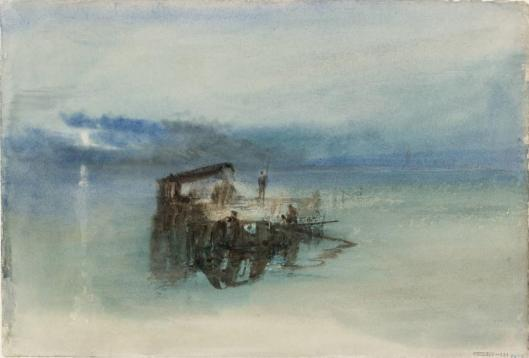 William Turner Fishermen on the Lagoon Moonlight 1840 watercolour Tate London