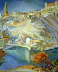Diego Rivera View of Toledo 1912 Museo Amparo Puebla