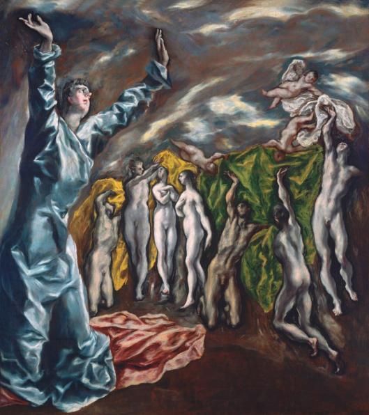 El Greco Vision of Saint John ca 1608 22 Met New York