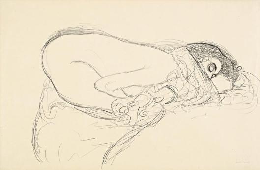 Gustav Klimt Female Nude Study for Leda 1913 14 Leopold Museum Vienna
