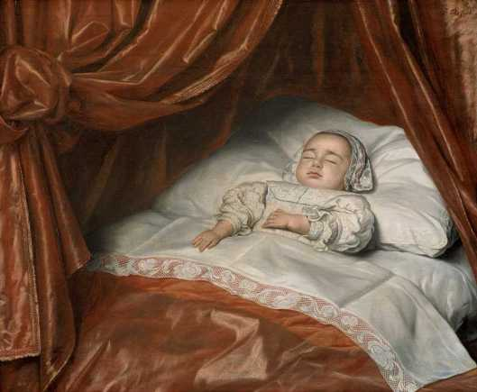 Johannes Thopas Girl on her Deathbed probably Catharina Margaretha van Valkenburg 1682 Mauritshuis Den Haag'