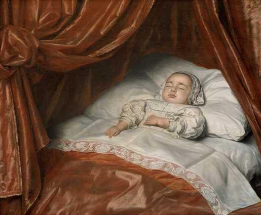 Johannes Thopas Girl on her Deathbed probably Catharina Margaretha van Valkenburg 1682 Mauritshuis Den Haag'