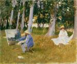 John Singer Sargent Claude Monet Painting by the Edge of Wood 1885 Tate London