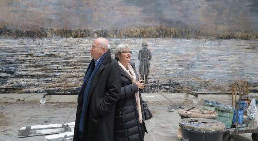 Martijn and Jeannette Sanders in Anselm Kiefer's studio Croissy-Beaubourg 2012