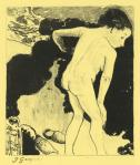 Paul Gauguin Bathers in Brittany from the Volpini Suite 1889 zincograph