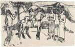 Paul Gauguin Change of Residence 1901 02 oil transfer drawing MoMA New York