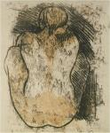 Paul Gauguin Crouching Tahitian Woman Seen From The Back ca 1901 02 recto oil transfer drawing  priv USA