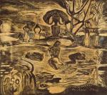 Paul Gauguin Mahana atua (Day of the God) state I-II 1894 woodcut