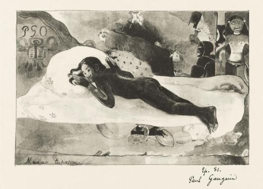 Paul Gauguin Manao tupapau (Watched by the Spirit of the Dead) 1894 lithograph
