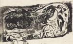 Paul Gauguin Plate with the Head of a Horned Devil Vollard Suite 1898 99 woodcut