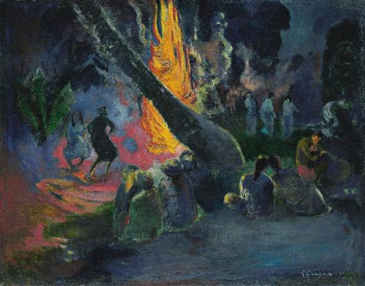 Paul Gauguin Upa upa (The Fire Dance) 1891 Israel Museum Jerusalem