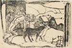 Paul Gauguin Wayside Shrine in Brittany from the Vollard Suite 1898 99 woodcut