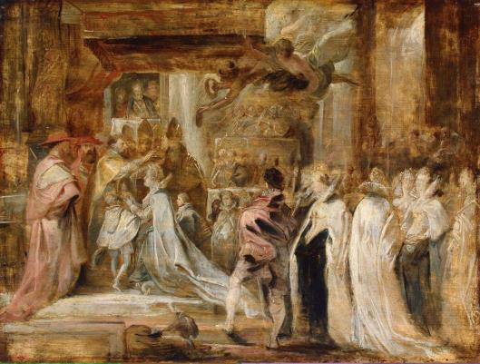 Peter Paul Rubens Coronation of Maria de' Medici ca 1622 25 Hermitage Museum St Petersburg