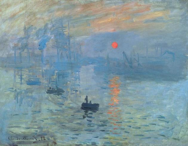 Claude Monet Impression Sunrise soleil levant 1872 Musée Marmottan Monet Paris