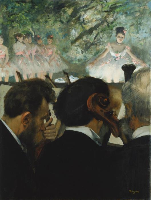 Edgar Degas Orchestra Musicians Musiciens à l'orchestre 1872 revised 1874 76 Städel Museum Frankfurt am Main