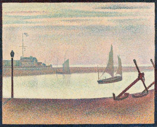 Georges Seurat Channel at Gravelines Evening 1890 MoMA New York
