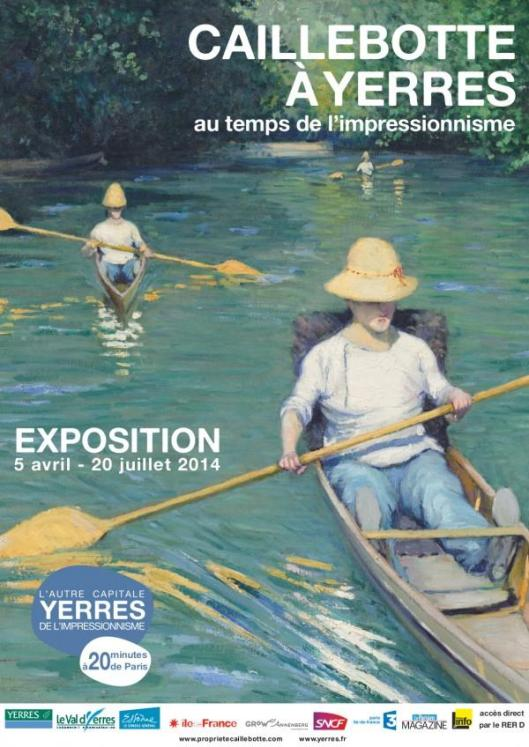 Gustave Caillebotte in Yerres exhibition poster