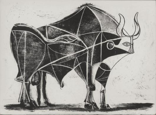 Pablo Picasso The Bull 5 (Le Taureau) 1945 lithograph