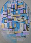 Piet Mondrian Composition in Oval with Colour Planes 2 1914 Gemeentemuseum Den Haag Hague